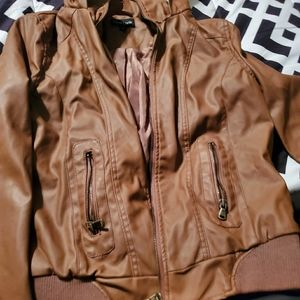 New Look Leather Jacket (Faux Fur)